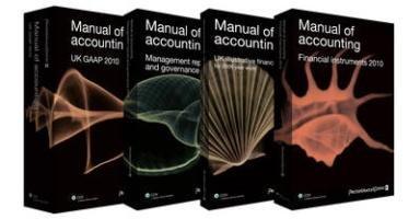 9781847982315: Manual of Accounting - UK GAAP (Pricewaterhousecoopers)