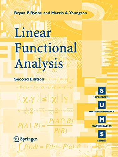 9781848000049: Linear Functional Analysis (Springer Undergraduate Mathematics Series)