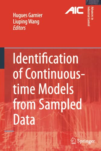 Identification of Continuous-time Models from Sampled Data: Hugues Garnier