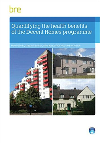 Quantifying The Health Benefits of the Decent Homes Programme: Garrett, Helen; Davidson, Maggie; ...