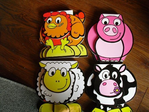 9781848175297: 4 Books Learn A-f with Sheep/ Learn G-l with Cow/ Learn M-s with Pig/learn T-z with Hen!