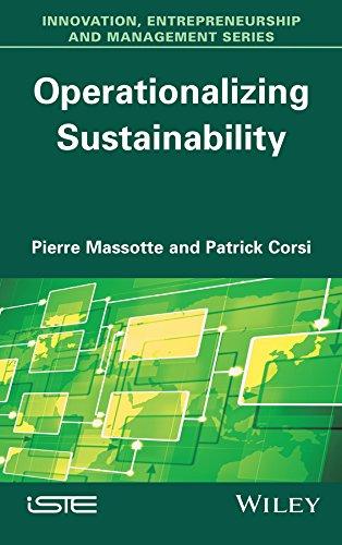 Operationalizing Sustainability: Patrick Corsi; Pierre Massotte