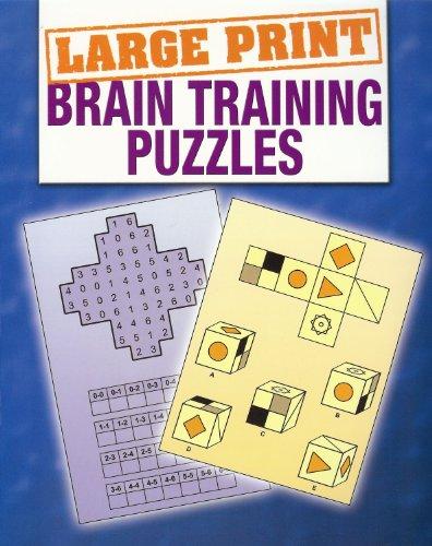 Brain Training Puzzles (Large Print Puzzles): Various Experts