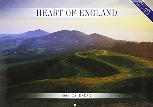 9781848380776: Heart of England A4 Calendar 2009