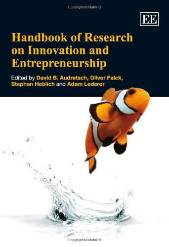 9781848440876: Handbook of Research on Innovation and Entrepreneurship (Research Handbooks in Business and Management Series)