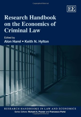 9781848443747: Research Handbook on the Economics of Criminal Law (Elgar Original Reference and part of Research Handbooks in Law and Economics Series)