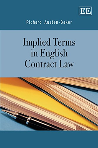 9781848445581: Implied Terms in English Contract Law