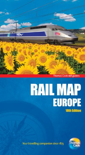 Rail Map Of Europe Th Thomas Cook Rail Guides - Thomas cook us maps