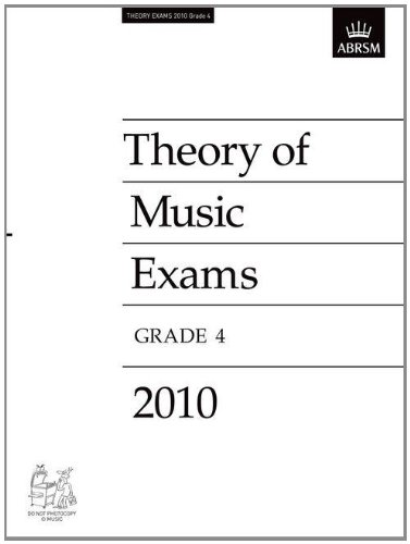 9781848492899: Theory of Music Exams 2010, Grade 4 (Theory of Music Exam Papers & Answers (ABRSM))