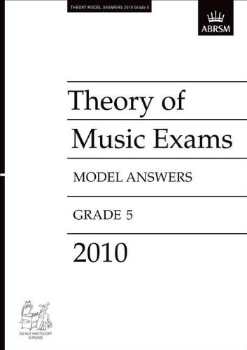 9781848492981: Theory of Music Exams 2010 Model Answers, Grade 5