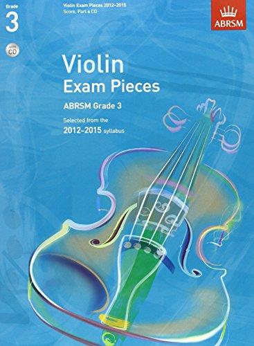 9781848493209: Violin Exam Pieces G 3 Score Part & CD (ABRSM Exam Pieces)