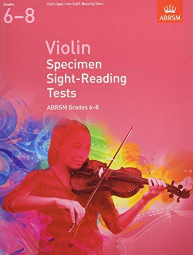 9781848493476: Violin Specimen Sight Reading Tests 6-8 (ABRSM Sight-reading)