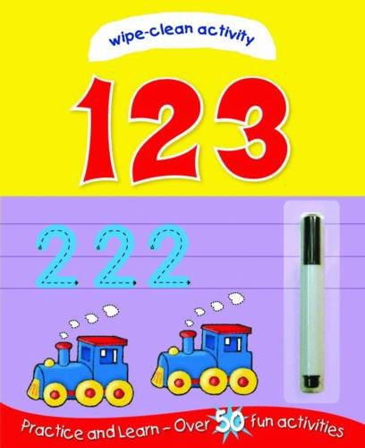 Wipe Clean: 123 (Sticker and Activity Book): Igloo Books Ltd.