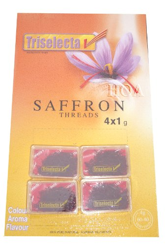 Triselecta Saffron Threads (4 x 1g)
