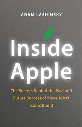 Inside Apple 9781848547216 In Inside Apple, Adam Lashinsky provides readers with an insight on leadership and innovation. He introduces Apple business concepts like the 'DRI' (Apple's practice of assigning a Directly Responsible Individual to every task) and the Top 100 (an annual event where that year's top 100 up-and-coming executives were surreptitiously transported to a secret retreat with company founder Steve Jobs). Based on numerous interviews, the book reveals exclusive new information about how Apple innovates, deals with its suppliers, and is handling the transition into the Post Jobs Era. While Inside Apple provides a detailed investigation into the unique company, its lessons about leadership, product design and marketing are universal. Inside Apple will appeal to anyone hoping to bring some of the Apple magic to their own company, career, or creative endeavour.