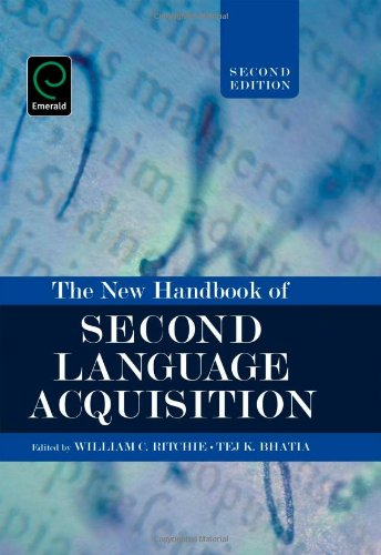 9781848552401: The New Handbook of Second Language Acquisition (Na)