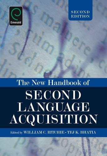 9781848552418: The New Handbook of Second Language Acquisition