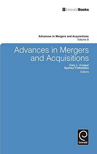 9781848557802: Advances in Mergers and Acquisitions (Advances in Mergers & Acquisitions)