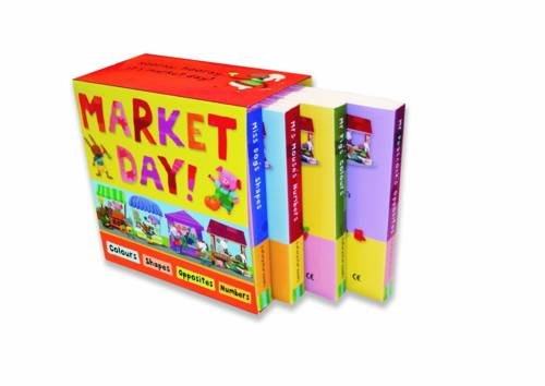 """9781848571525: Market Day: """"Mrs Mouse's Numbers"""", """"Mr Peacock's Opposites"""", """"Miss Dog's Shapes"""", """"Mr Pig's Colours"""""""