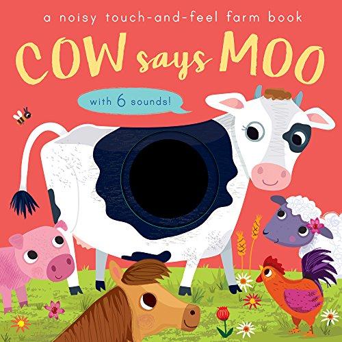 9781848574779: Cow Says Moo: A noisy touch-and-feel farm book