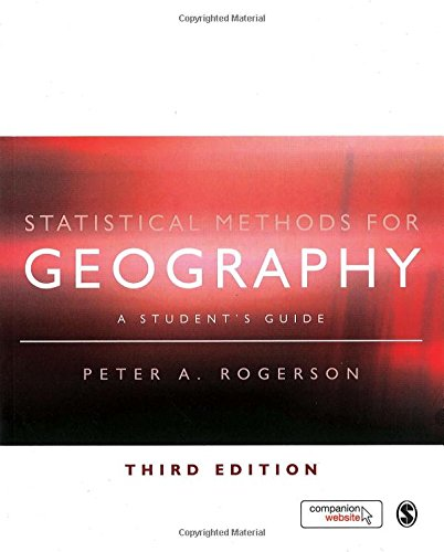 9781848600034: Statistical Methods for Geography: A Student′s Guide
