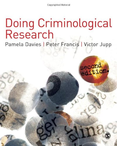 Doing Criminological Research: Victor R. Jupp