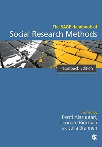 9781848607309: The SAGE Handbook of Social Research Methods (Sage Handbooks)