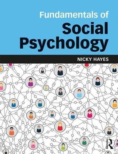 Fundamentals of Social Psychology: Hayes, Nicky