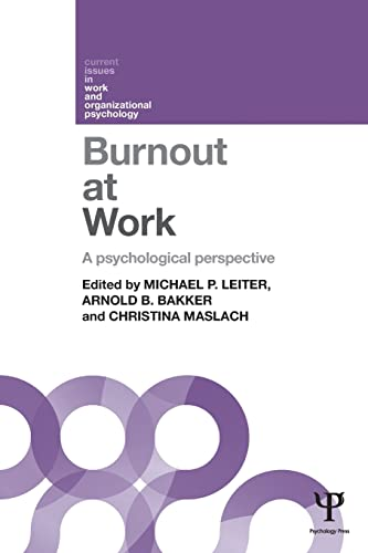 9781848722293: Burnout at Work: A psychological perspective (Current Issues in Work and Organizational Psychology)