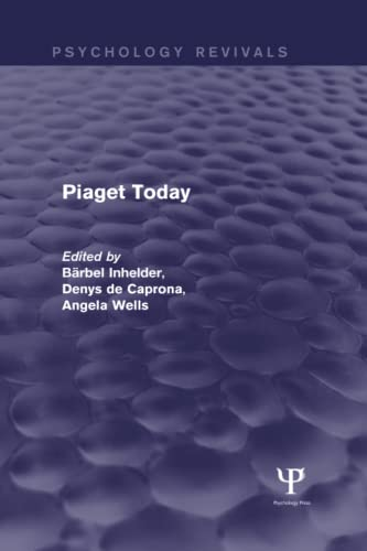 9781848722620: Piaget Today (Psychology Revivals)