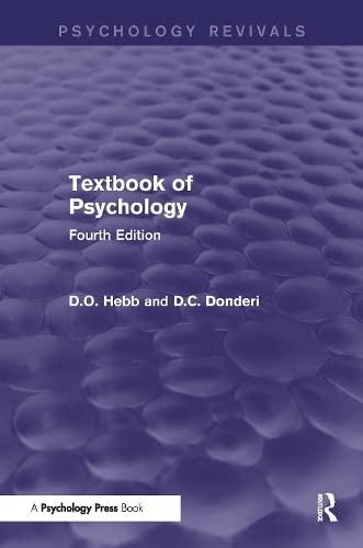 9781848722903: Textbook of Psychology (Psychology Revivals)