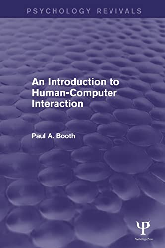 9781848723146: An Introduction to Human-Computer Interaction (Psychology Revivals)