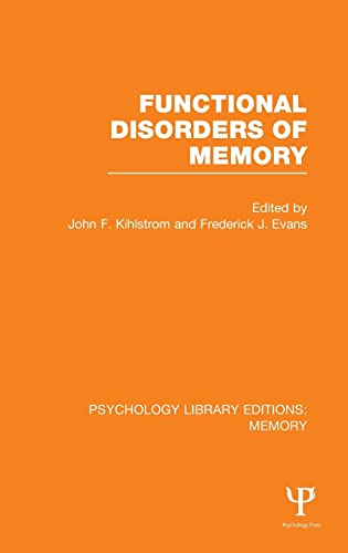 9781848723733: Functional Disorders of Memory (PLE: Memory) (Psychology Library Editions: Memory) (Volume 14)
