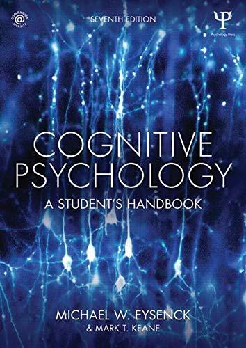 9781848724167: Cognitive Psychology: A Student's Handbook