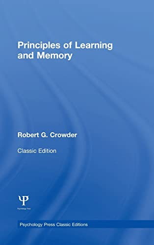 9781848725027: Principles of Learning and Memory: Classic Edition (Psychology Press & Routledge Classic Editions)