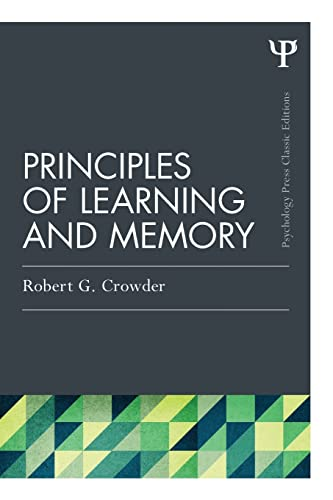 9781848725034: Principles of Learning and Memory: Classic Edition (Psychology Press & Routledge Classic Editions)