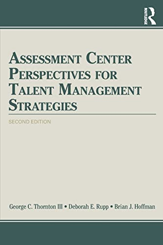 9781848725058: Assessment Center Perspectives for Talent Management Strategies: 2nd Edition