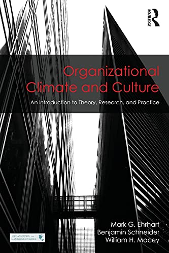 9781848725287: Organizational Climate and Culture: An Introduction to Theory, Research, and Practice (Organization and Management Series)
