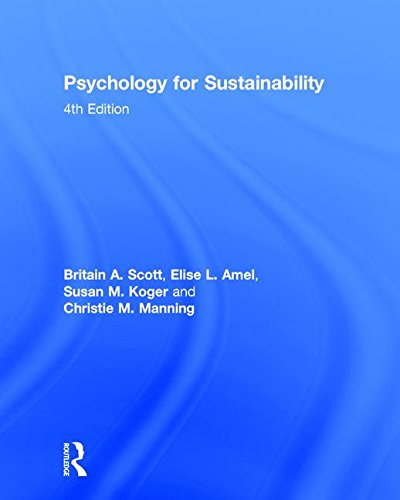 9781848725799: Psychology for Sustainability: 4th Edition