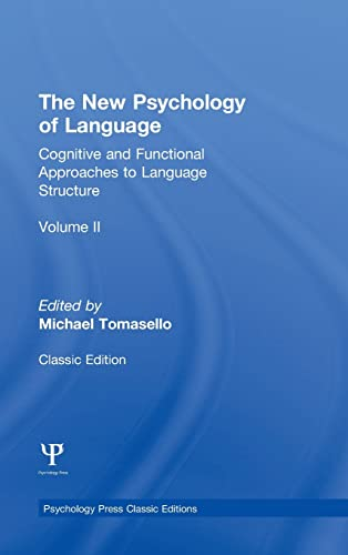 9781848725935: 2: The New Psychology of Language: Cognitive and Functional Approaches to Language Structure, Volume II (Psychology Press & Routledge Classic Editions)