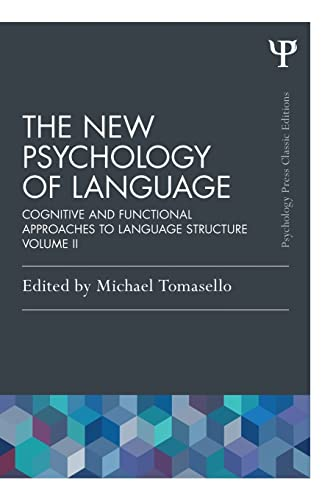 9781848725942: 2: The New Psychology of Language: Cognitive and Functional Approaches to Language Structure, Volume II (Psychology Press & Routledge Classic Editions)