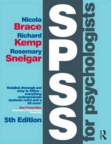 9781848726000: SPSS for Psychologists: Fifth Edition