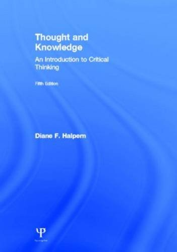 9781848726284: Thought and Knowledge: An Introduction to Critical Thinking