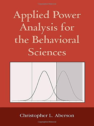 9781848728349: Applied Power Analysis for the Behavioral Sciences