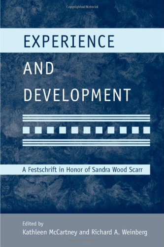 9781848728479: Experience and Development: A Festschrift in Honor of Sandra Wood Scarr (Modern Pioneers in Psychological Science: An APS-Psychology Press Series)