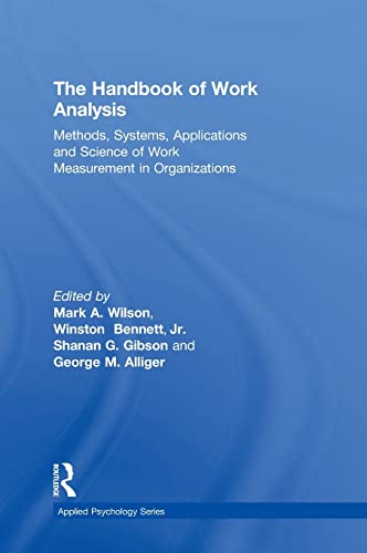 9781848728707: The Handbook of Work Analysis: Methods, Systems, Applications and Science of Work Measurement in Organizations (Applied Psychology Series)