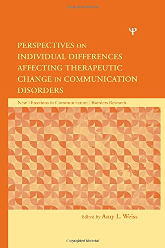 9781848728875: Perspectives on Individual Differences Affecting Therapeutic Change in Communication Disorders (New Directions in Communication Disorders Research)