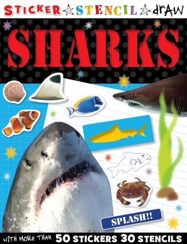 9781848792593: Sticker Stencil Draw Shark