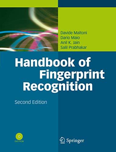 9781848822535: Handbook of Fingerprint Recognition