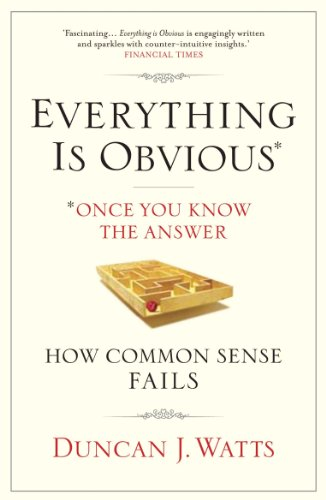 9781848872165: Everything Is Obvious: Why Common Sense Is Nonsense